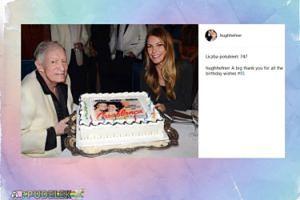 Hugh Hefner pokazał tort urodzinowy