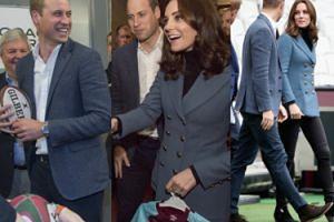 """Kate, William i Harry na spotkaniu z trenerami. Dostali mały strój piłkarski dla nowego """"royal baby"""" (ZDJĘCIA)"""