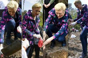 Agata Duda sadzi drzewa na Święcie Lasu w Radomiu (ZDJĘCIA)