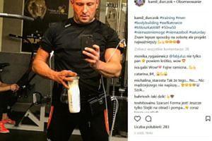 Spocony Kamil Durczok pozdrawia z siłowni (FOTO)