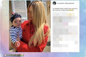Małgorzata Rozenek pozuje z dzieckiem