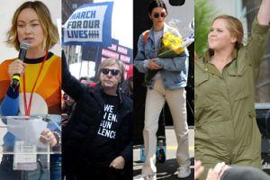 Lady Gaga, Miley Cyrus, Selena Gomez i inne gwiazdy domagają się zakazu broni w USA (ZDJĘCIA)