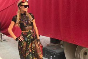 Paris Hilton na festiwalu Burning Man (GALERIA)