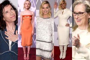Nominowani do Oscarów promują się na czerwonym dywanie: Margot Robbie, Saoirse Ronan, Mary J. Blige, Meryl Streep... (ZDJĘCIA)