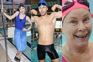 Celebryci w czepkach i goła klata Banasiuka na mistrzostwach w pływaniu! (ZDJĘCIA)