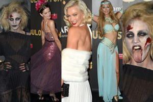 Anja Rubik jako zombie, Paris Hilton i tłum modelek na halloweenowej gali amfAR (ZDJĘCIA)