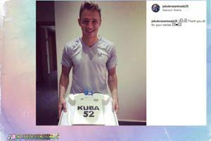 Jakub Rzeźniczak pokazał tort urodzinowy