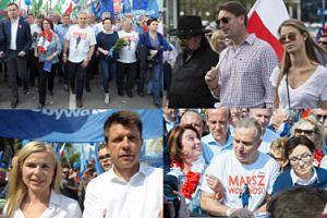 """Tomasz Lis z córką, Ryszard Petru z """"polityczną dziewicą"""" i rozbawieni politycy na Marszu Wolności (ZDJĘCIA)"""