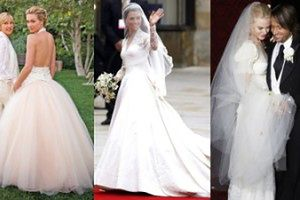 Najpiękniejsze suknie ślubne gwiazd!