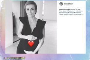 Katarzyna Zielińska chwali się brzuchem