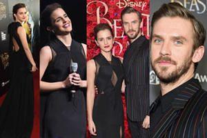 """Emma Watson i Dan Stevens promują """"Piękną i Bestię"""" w Nowym Jorku (ZDJĘCIA)"""