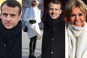 Zmarznięty Emmanuel Macron zwiedza Pekin z opaloną żoną i jej torebką za 6 tysięcy (ZDJĘCIA)