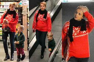 Świąteczna Zielińska buszuje po centrum handlowym. Wróciła już do formy po ciąży? (ZDJĘCIA)
