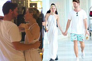 Miley i Schwarzenegger na randce w Miami (ZDJĘCIA)