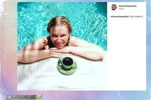 Paulina Młynarska wypoczywa w basenie