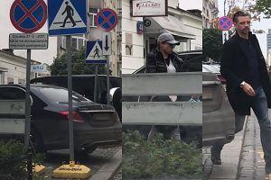 Anna Mucha z Marcelem parkują na przejściu dla pieszych (WIDEO)