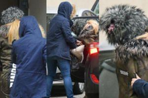 TYLKO U NAS: Zatrzymana Doda w futrzanej czapce doprowadzana do prokuratury (ZDJĘCIA)