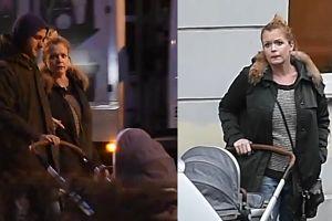 Daria Widawska na spacerze z mężem i dzieckiem