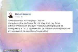 """Szymon Majewski wyśmiewa Lisa: """"Jest jedno wyjście dla Tomka - TV LIS : Cały dzień cały Tomek"""""""