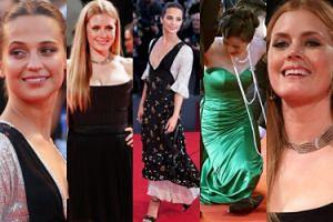 Alicia Vikander i Amy Adams na czerwonym dywanie w Wenecji (ZDJĘCIA)