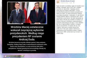 """Wróżbita Maciej: """"Tyle razy mówiłem w mediach, że Andrzej Duda jest człowiekiem odpowiedzialnym"""""""