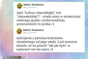 """Ziemkiewicz krytykuje Kulturę Niepodległą: """"Próba wykrojenia z państwa księstewka niezależnego od jego władz"""""""