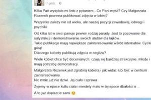 Wróblewska skomentowała majtki Rozenek