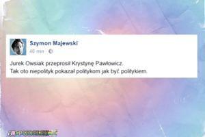 """Szymon Majewski o przeprosinach Owsiaka: """"Pokazał politykom jak być politykiem"""""""