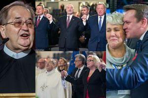 Tłum polityków PiS na urodzinach Radia Maryja: Macierewicz, Błaszczak i Szyszko trzymają się za ręce i śpiewają... (ZDJĘCIA)