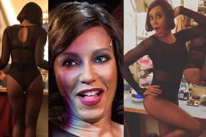 41-letnia Mel B w przezroczystym body wygina się na Broadwayu! (ZDIĘCIA)