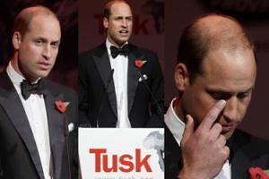 """Smutny książę William broni """"naturalnego dziedzictwa Afryki"""" na gali w Londynie (ZDJĘCIA)"""