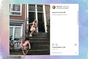 Stylowa Hania Lis pozdrawia z Amsterdamu