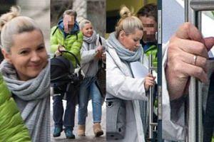 Dorota Szelągowska z partnerem i córeczką spieszy się do lekarza (ZDJĘCIA)