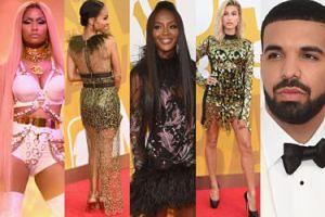 """Naomi Campbell w piórach, żona Willa Smitha i """"najseksowniejsza kobieta świata"""" na gali NBA Awards (ZDJĘCIA)"""