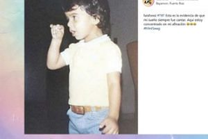 Luis Fonsi na zdjęciu z dzieciństwa