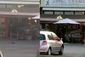 Z OSTATNIEJ CHWILI: Samochód wjechał w restaurację pod Paryżem