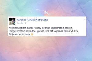 """Korwin Piotrowska szczerze o tabloidzie: """"Fakt to jednak paw"""""""