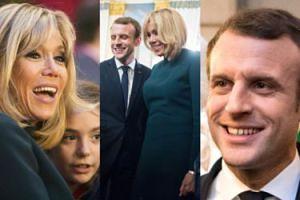 Szczęśliwi Emmanuel i Brigitte Macron bawią się z dziećmi na świątecznym przyjęciu (ZDJĘCIA)
