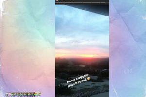 Agnieszka Woźniak-Starak przeżywa wschód słońca