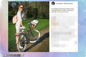 Małgorzata Rozenek wybrała się na wycieczkę rowerową