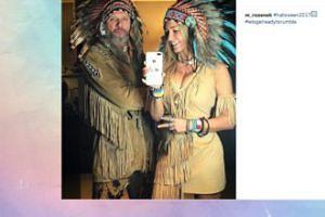 Małgonia i Radzio przebrani za indian (FOTO)