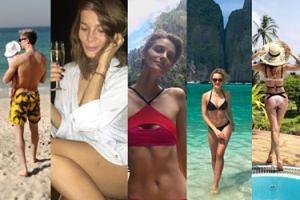 Plaża, drinki i luksusowe kurorty... Tak polscy celebryci uciekają od zimy (ZDJĘCIA)