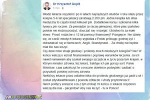 Krzysztof Gojdź wspiera protestujących lekarzy