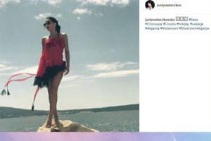Justyna Steczkowska pozuje na skale (FOTO)