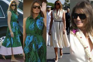 Melania Trump w dwóch sukienkach na Hawajach. Która ładniejsza? (ZDJĘCIA)