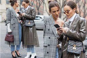 """""""Modne"""" Marina Łuczenko i Sara Boruc chodzą ulicą na Tygodniu Mody w Mediolanie (FOTO)"""