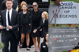 Brad Pitt, Metallica, Courtney Love i wiele gwiazd na pogrzebie Chrisa Cornella (ZDJĘCIA)