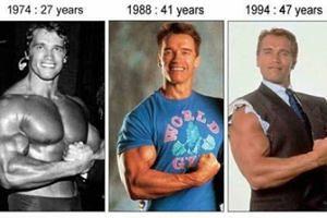 Arnold Schwarzenegger na przestrzeni lat