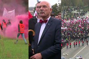 """""""Wypie*dalać"""" i świński łeb na kiju. 7 TYSIĘCY OSÓB na marszu antyimigracyjnym"""