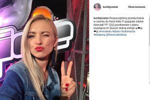 """Basia Kurdej-Szatan nagrywa """"Voice Kids"""""""
